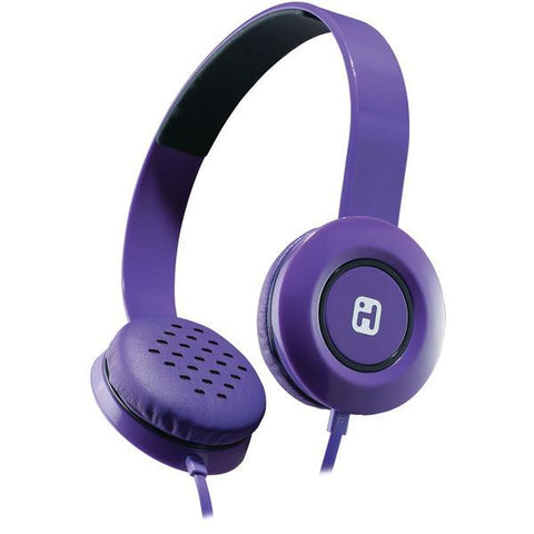 iHome iB35UBC Stereo Headphones with Flat Cable (Purple) - Peazz.com