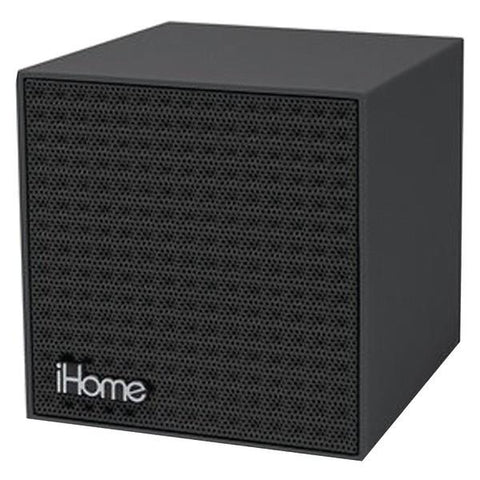 iHome IBT16BBC Rubberized Bluetooth Mini Speaker Cube with Rechargeable Battery - Peazz.com