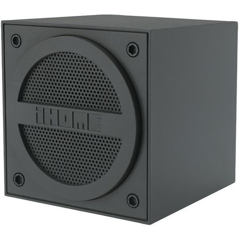 iHome iBT16GC Rubberized Bluetooth Mini Speaker Cube with Rechargeable Battery (Grey) - Peazz.com