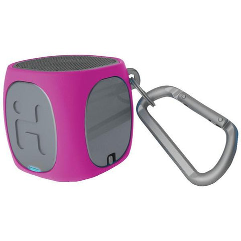 iHome iBT55PGC Bluetooth Rechargeable Mini Speaker System (Pink/Gray) - Peazz.com