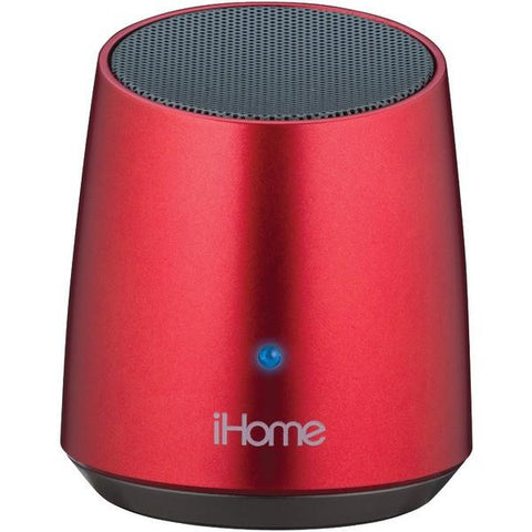 iHome iBT69RC Bluetooth Rechargeable Mini Speaker (Red) - Peazz.com