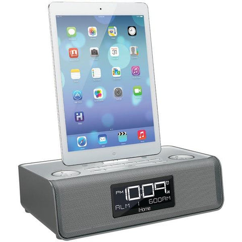 iHome IDL43S Dual Alarm Clock Radio with Lightning & USB Docks - Peazz.com