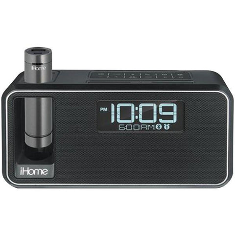 iHome IKN105BC Dual-Charging Bluetooth Stereo Alarm Clock Radio/Speakerphone with NFC & Removable Power (Black) - Peazz.com