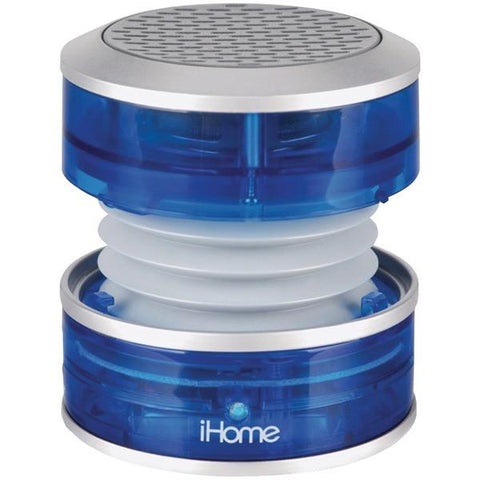 iHome iM60LT Rechargeable Mini Speaker (Blue Translucent) - Peazz.com