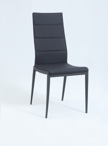 Chintaly JACKIE-SC-BLK Stitched-Back Side Chair ( Set of 4 )