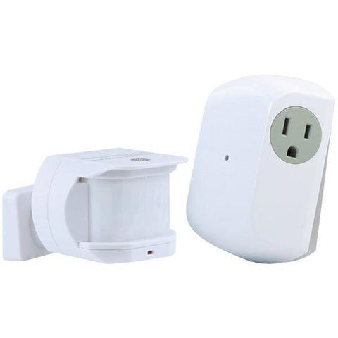 GE 12751 Wireless Motion-Sensing Light Control Transmitter with 1 Indoor Grounded Outlet Receiver - Peazz.com
