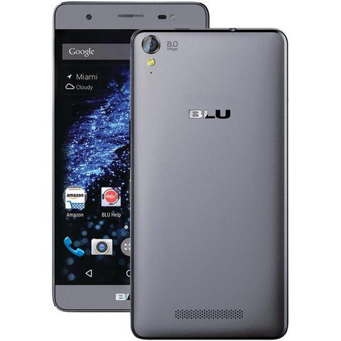 BLU Products E030UGRY Studio Energy X Plus Unlocked Phone (Gray) - Peazz.com