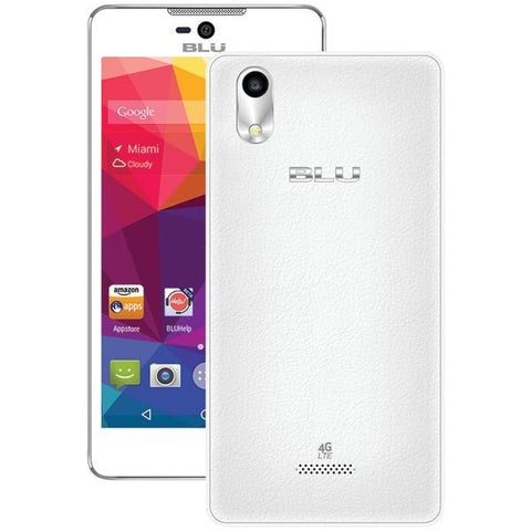 BLU Products S0050UUWH Studio C 5+5 LTE Smartphone (White) - Peazz.com
