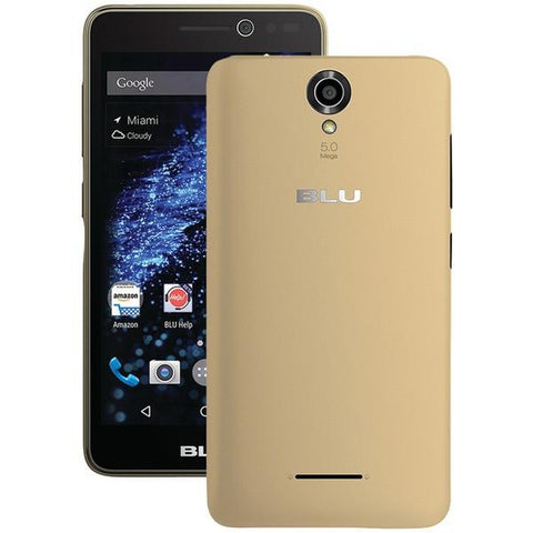 BLU Products S070QGLD Studio Selfie Smartphone (Gold) - Peazz.com