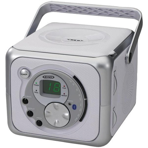 Jensen CD-555A Portable Bluetooth Music System with CD Player - Peazz.com