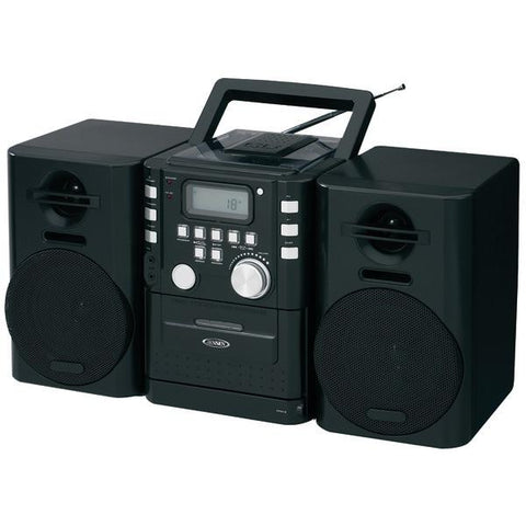 Jensen CD-725 Portable CD Music System with Cassette & FM Stereo Radio - Peazz.com