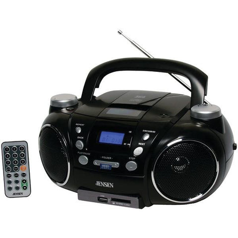 Jensen CD-750 Portable AM/FM Stereo CD Player with MP3 Encoder/Player - Peazz.com