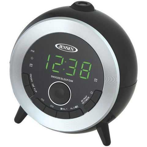 Jensen JCR-225 Dual Alarm Projection Clock Radio - Peazz.com