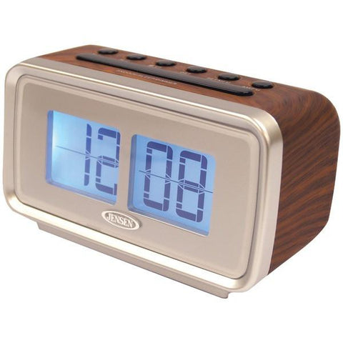 Jensen JCR-232 AM/FM Dual Alarm Clock with Digital Retro Flip Display - Peazz.com