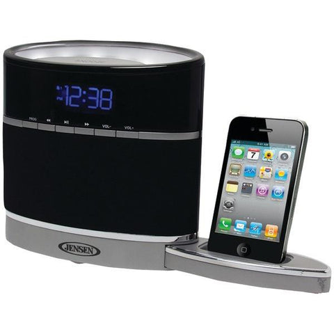 Jensen JiMS-185i iPhone/iPod Docking Alarm Clock Radio with Night-Light - Peazz.com