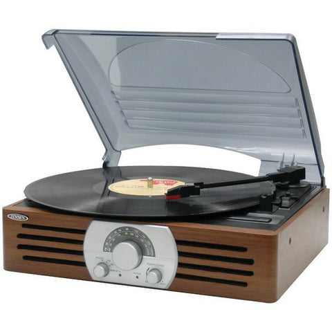 Jensen JTA-222 3-Speed Stereo Turntable with AM/FM Stereo Radio - Peazz.com