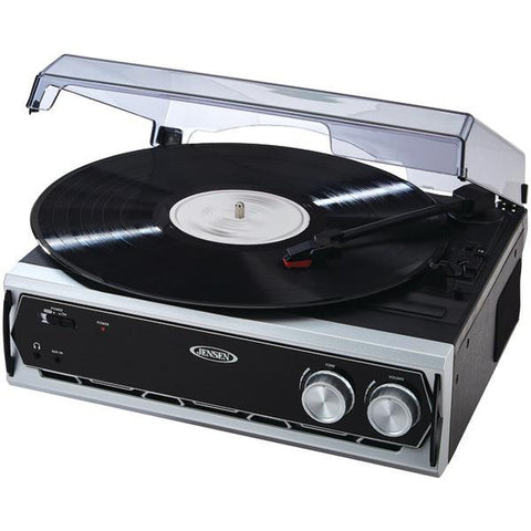 Jensen JTA-232 3-Speed Stereo Turntable - Peazz.com