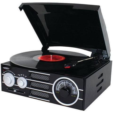 Jensen JTA300 3-Speed Stereo Turntable with AM/FM Stereo Radio - Peazz.com