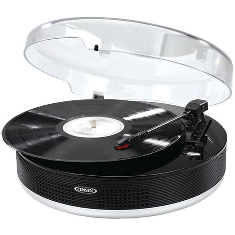 Jensen JTA-455 Bluetooth 3-Speed Stereo Turntable with Metal Tone Arm - Peazz.com