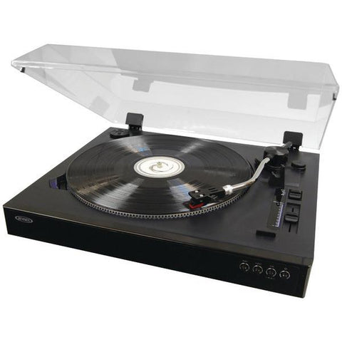 Jensen JTA-470 Professional 3-Speed Stereo Turntable with Speed Adjustment - Peazz.com