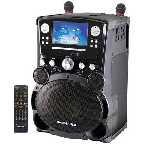 "Karaoke USA GP975 Professional DVD/CD+G/MP3+G Karaoke System with 7"" Color TFT Display & Recording - Peazz.com"