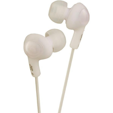 JVC HAFR6W Gumy Plus In-Ear Earbuds with Remote & Microphone (White) - Peazz.com