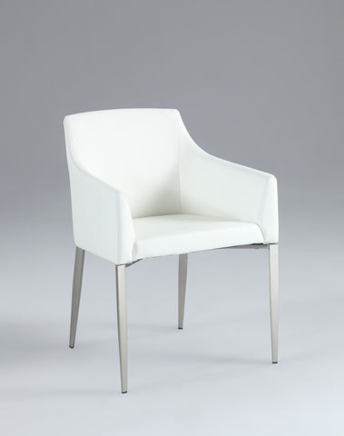 Chintaly KATIE-AC-WHT Accent Side Chair