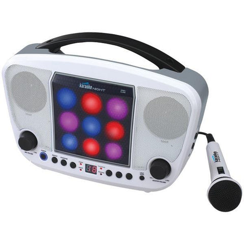 Karaoke USA KN103 CD Sing-a-Long Karaoke with LED Light Show - Peazz.com