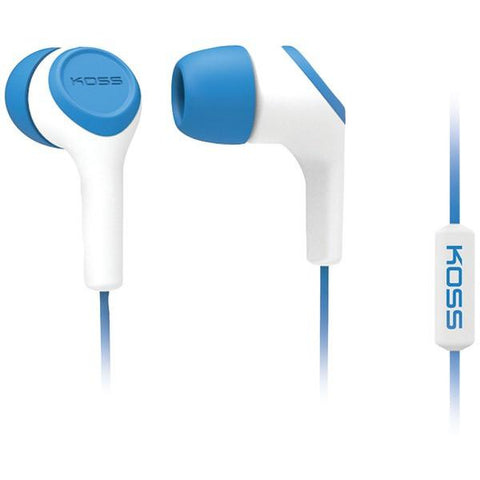 KOSS 187220 KEB15i In-Ear Earbuds with Microphone (Blue) - Peazz.com