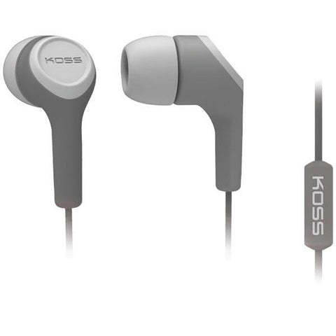 KOSS 187212 KEB15i In-Ear Earbuds with Microphone (Gray) - Peazz.com