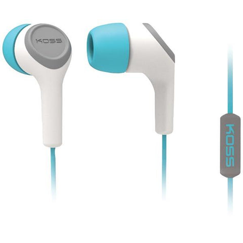 KOSS 187238 KEB15i In-Ear Earbuds with Microphone (Teal) - Peazz.com