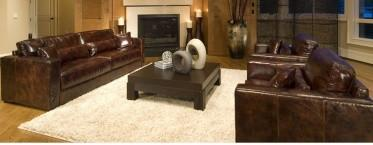 Element Home Furnishing LAG-3PC-S-SC-SC-SADD-1 Laguna 3-Piece Top Grain Leather Collection in Saddle including 1-Sofa and 2-Standard Chairs