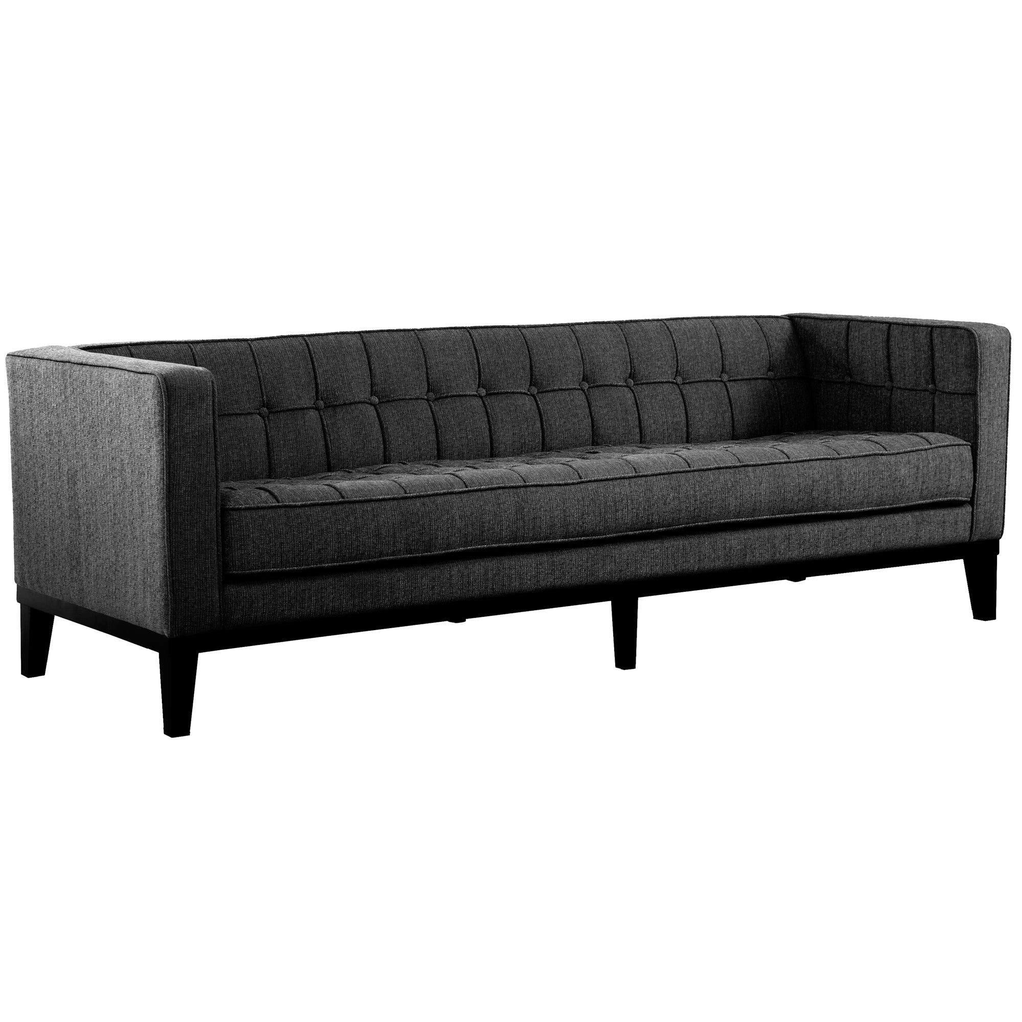 Furniture Sofa Charcoal Fabric Roxbury Photo