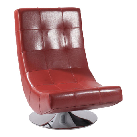 Armen Living LC3634CLRE Mario Swivel Chair Red Bonded Leather
