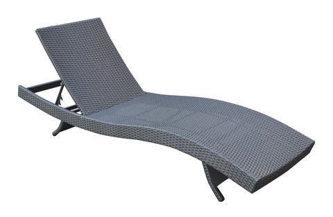 Armen Living LCCALOBL Cabana Outdoor Adjustable Wicker Chaise Lounge Chair
