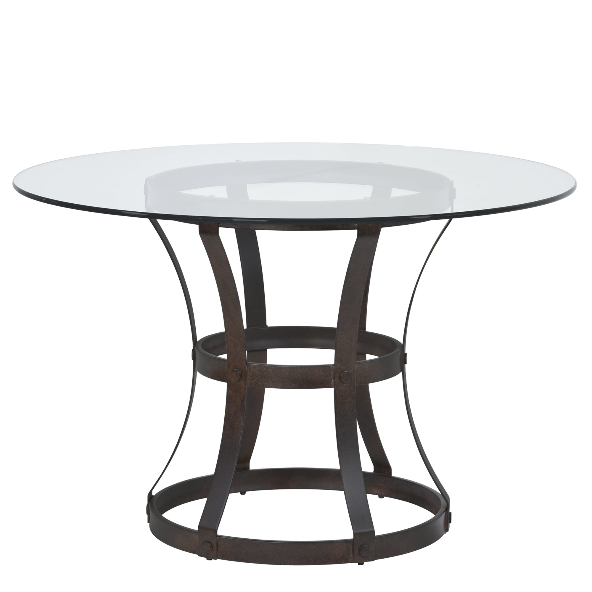 Armen Living Round Dining Table Auburn Bay Glass Top Vancouver
