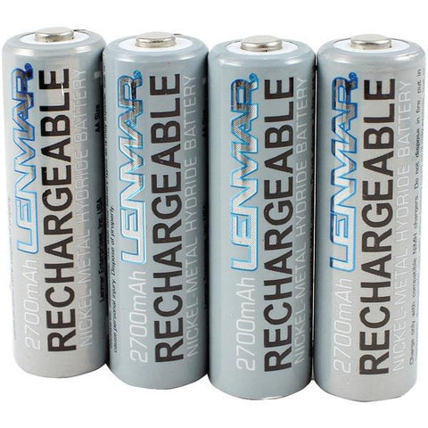 Lenmar PRO427 AA 2,700mAh NiMH Batteries with Protective Case, 4 pk - Peazz.com