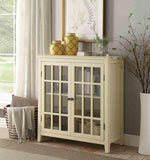 Linon LG110YEL01U Leslie Pale Yellow Double Door Cabinet