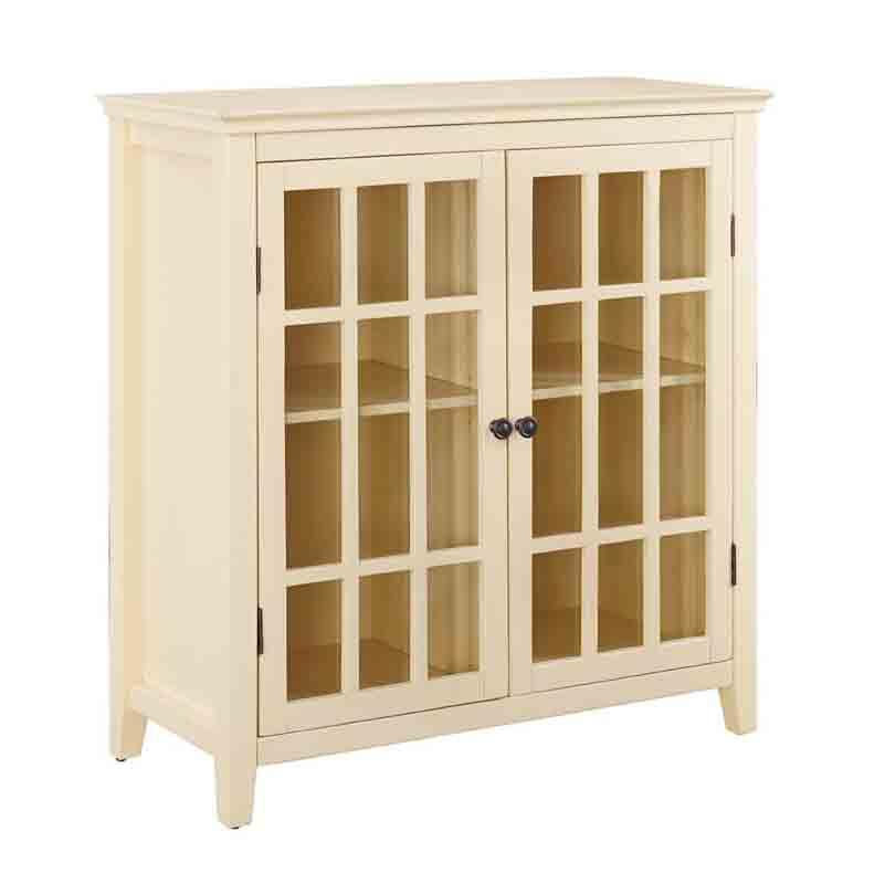Pale Yellow Double Door Cabinet 18557 Product Photo