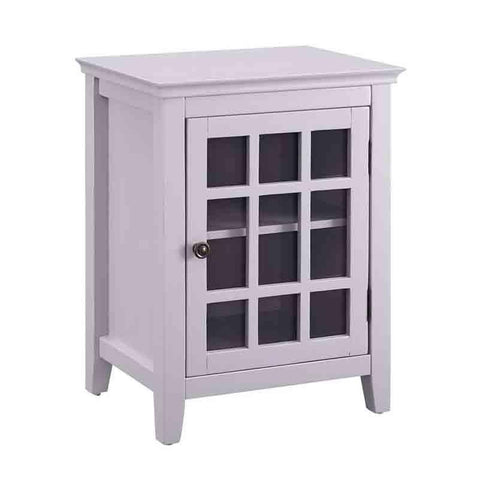 Linon LG111GRY01U Leslie Gray Single Door Cabinet