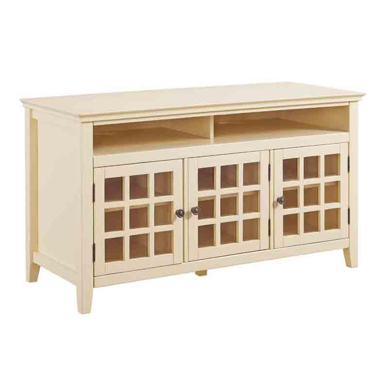 Linon Pale Yellow Media Cabinet Leslie