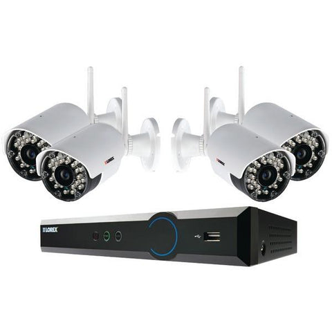 Lorex LH03041TC4W 4-Channel Stratus Cloud Connect 1TB DVR with 4 Real-time Wireless Cameras - Peazz.com