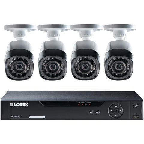 Lorex LHV10082TC4 8-Channel Real-Time 720p HD 2TB DVR CCTV with 4 Cameras - Peazz.com