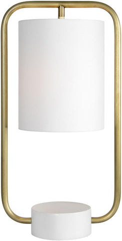 Ren-Wil LPT827 Sinclair Collection Antique Brass and Matte Cream Finish