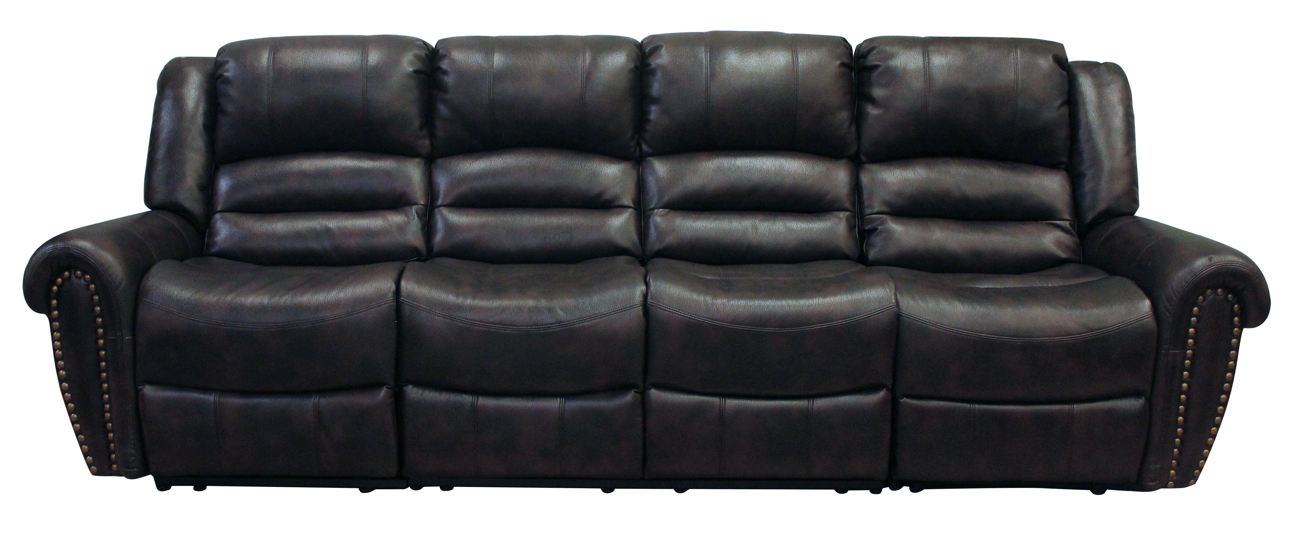 Chintaly Bonded Leather Armless Love Seat Reclining