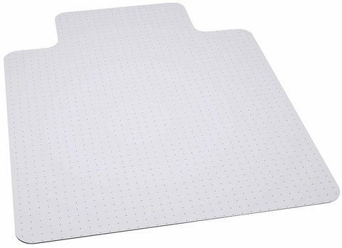 Flash Furniture MAT-124164-GG 45'' x 53'' Big & Tall 400 lb. Capacity Carpet Chair Mat with Lip - Peazz.com