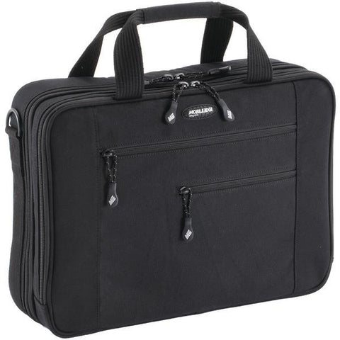 "Mobile Edge MECBC1 16"" PC/17"" MacBook Canvas ECO Briefcase, Black - Peazz.com"