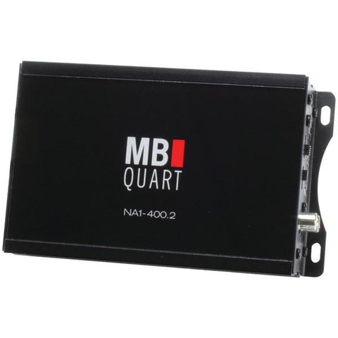 MB QUART NA1-400.2 Nautic Series Compact Powersports Class D Amp (2 channel, 200 Watts x 2) - Peazz.com