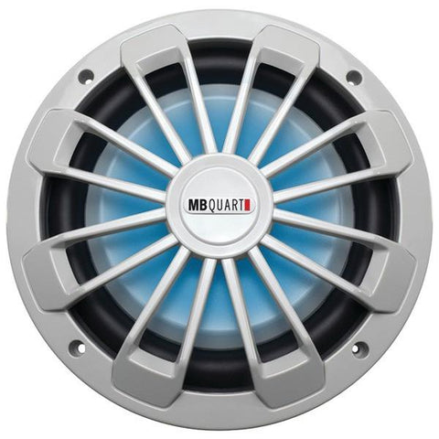 "MB Quart NW1-254L Nautic Series Marine-Certified 10"" 600-Watt Shallow Subwoofer (With LED Illumination) - Peazz.com"