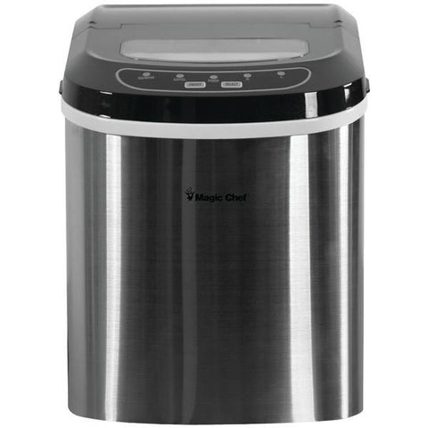 Magic Chef MCIM22ST 27lb-Capacity Ice Maker (Stainless) - Peazz.com